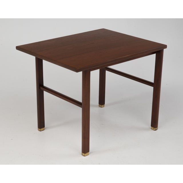 Cantilevered Dunbar Side End Table Edward Wormley 1960s Marked For Sale In Philadelphia - Image 6 of 12