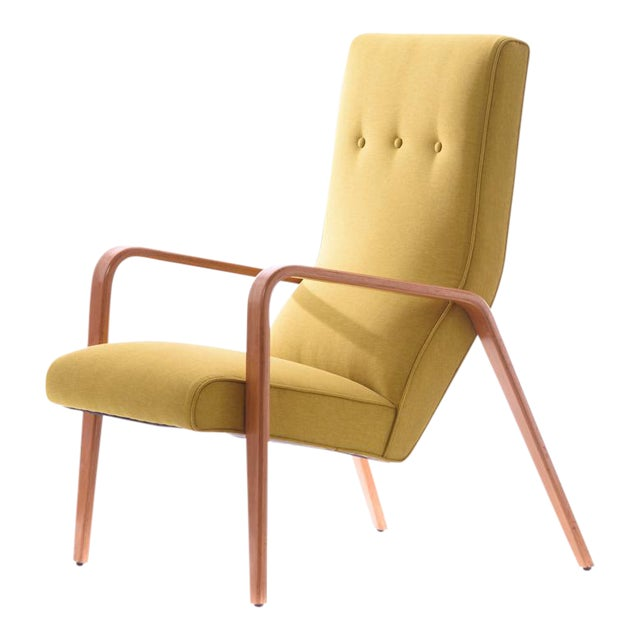 Thonet Mid-Century Modern Bentwood Style Lounge Chair For Sale