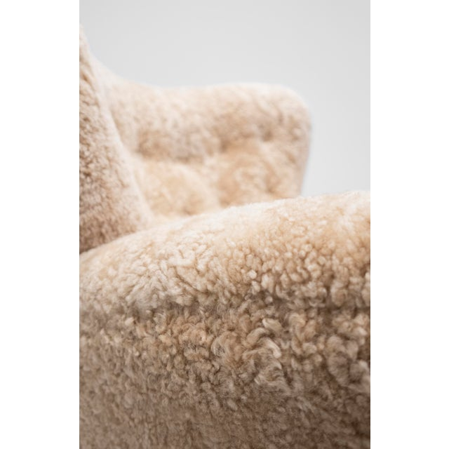 Animal Skin Mogens Lassen Attributed, Lounge Chair C. 1940 For Sale - Image 7 of 10