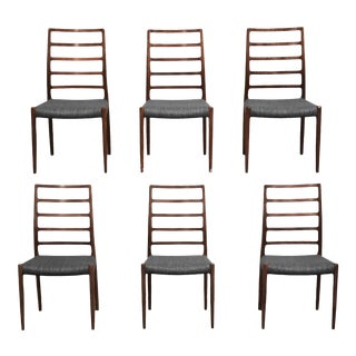 Niels Møller Rosewood #82 Danish Modern Dining Chairs - Set of 6 For Sale