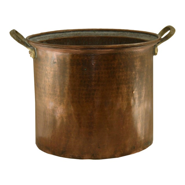 Hand-Hammered Antique Turkish Copper Boiler For Sale