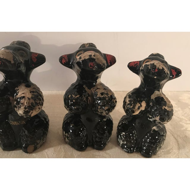 Mid 20th Century Black Poodle Shakers - Set of 5 For Sale - Image 5 of 10