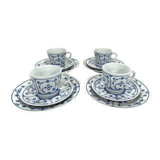Jager Blue Ornament Luncheon Set - 12 Piece Set For Sale