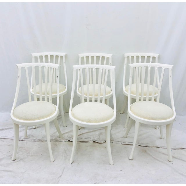 Stunning Set of Six Vintage Poltrona Frau Dining Chairs, Crafted in Italy by Poktrona Frau. Original finish fittings,...