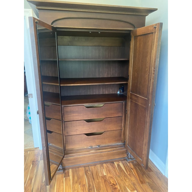 Thomasville Thomasville Solid Wood Armoire in Condition For Sale - Image 4 of 5
