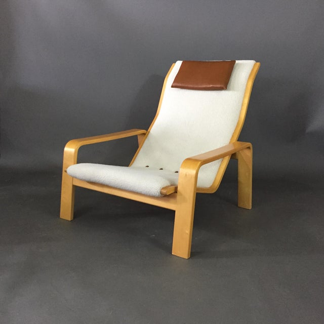 1960s Ilmari Lappalainen Pulkka Lounge Chair for Asko Finland, 1960s For Sale - Image 5 of 9