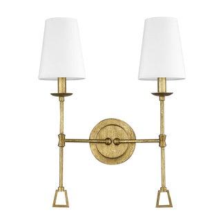 Ponce City 2 Light Sconce, Gilded Gold