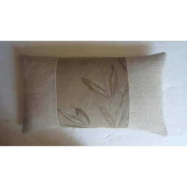 French Aubusson & Hemp Pillow - Image 2 of 3