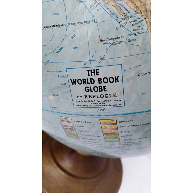 Vintage World Book Globe by Replogle on Stand - Image 3 of 10