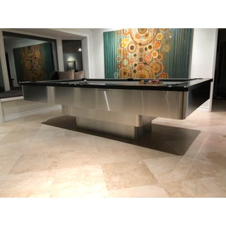 Stainless Steel Modern Pedestal Pool Table Preview