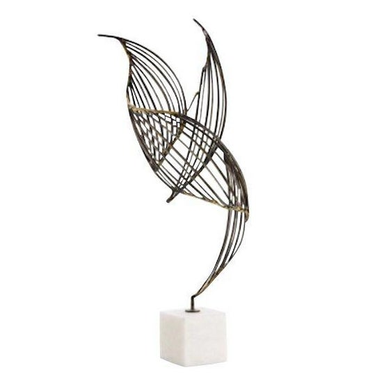 Abstract Mid-Century Winged Metal Sculpture - Image 1 of 3