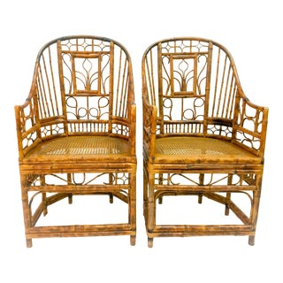 Vintage Brighton Pavilion Style Chippendale Chairs - A Pair