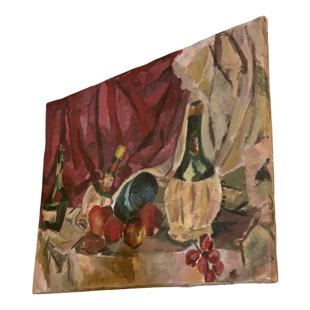 1950s Vintage Still Life Painting For Sale