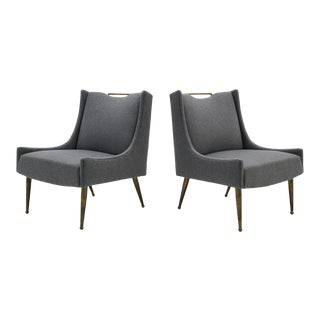 1950s Vintage Italian Lounge Chairs- A Pair For Sale