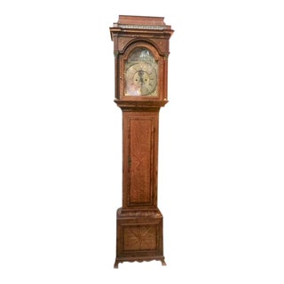 Early 19th Century English Inlaid Grandfather Tall Case Clock