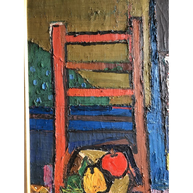 20th Century Abstract Still Life Oil on Canvas For Sale - Image 4 of 6