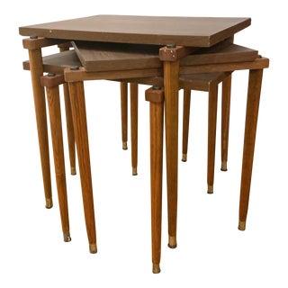 Vintage Danish Modern Rectangle Stacking Tables - Set of 3 For Sale