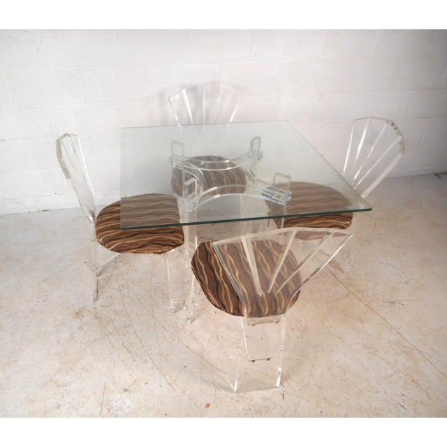 Mid-Century Modern Lucite Dining Set For Sale - Image 13 of 13