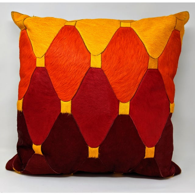 Cowhide Moroccan Pillow For Sale - Image 9 of 9