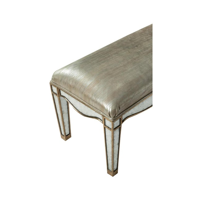Giltwood Eglomise Mirrored Bench For Sale - Image 4 of 5