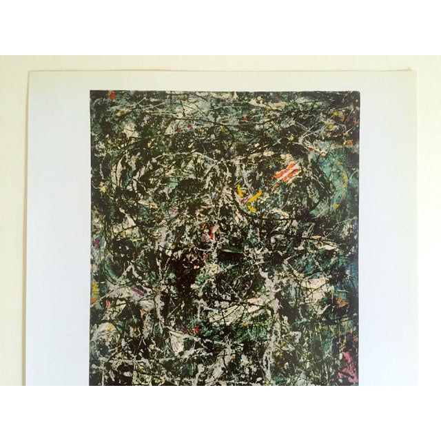 """This Jackson Pollock Foundation Abstract Expressionist collector's offset lithograph print """" Full Fathom Five """" 1947, is a..."""