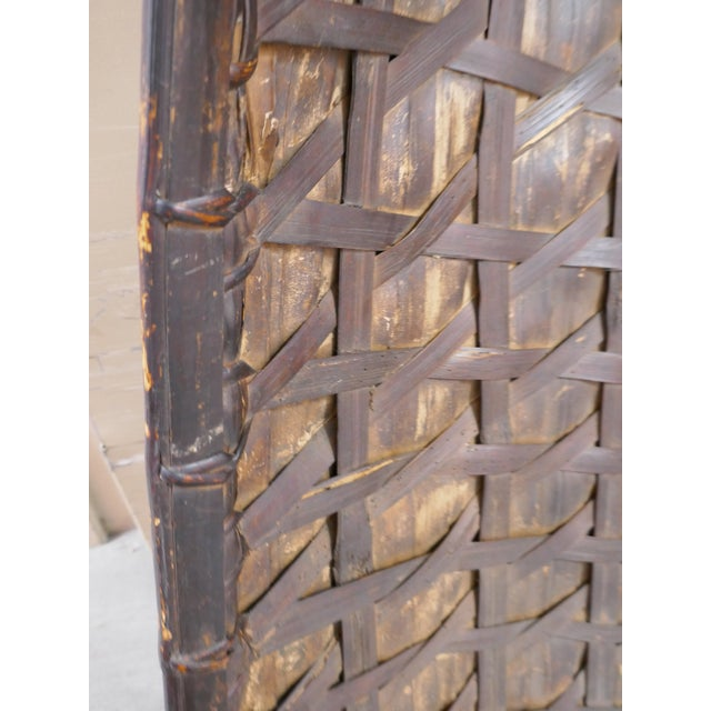 Wood Antique Philippine Rice Basket & Rain Hood For Sale - Image 7 of 9