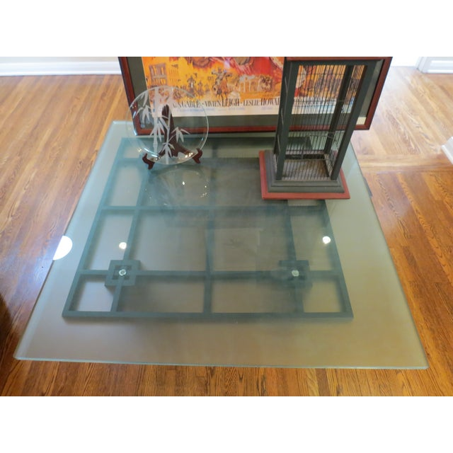 New Italian Square Glass Top Coffee Table - Image 7 of 9