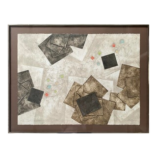 Geometric Abstract Artwork, Framed For Sale