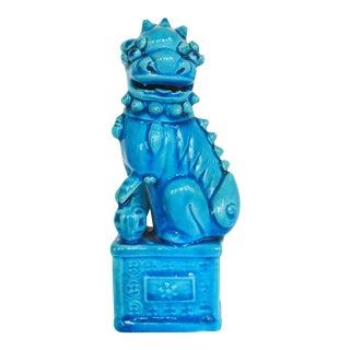 Vintage Turquoise Glazed Foo Dog