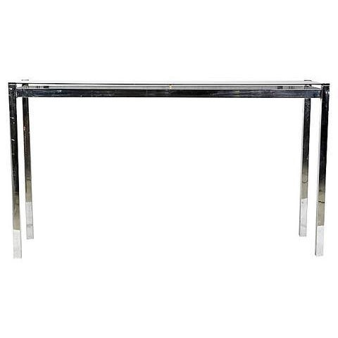1970s Chrome Console Table For Sale In Boston - Image 6 of 6
