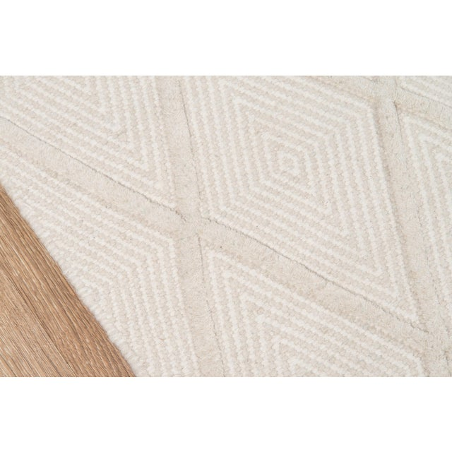 Modern Erin Gates by Momeni Langdon Spring Beige Hand Woven Wool Area Rug - 5′ × 8′ For Sale - Image 3 of 7