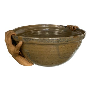 """Hands"" Pottery Bowl For Sale"