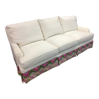 Century Furniture Carter's Skirted Sofa For Sale