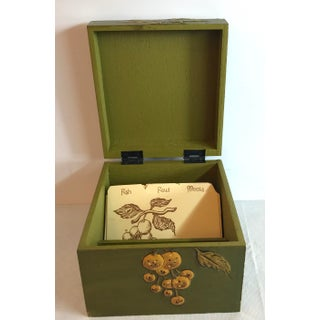 Vintage Mid Century Fitz and Floyd Decoupage Recipe Box Preview