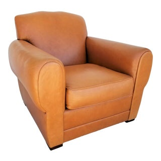 MCM Ralph Lauren Genuine Leather Club Lounge Armchair For Sale