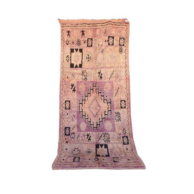 "Boujad Vintage Moroccan Rug - 5'8"" x 13'1"" - Image 1 of 4"
