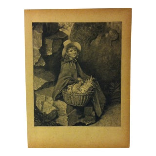 "Antique Grand Union Tea Company Print, ""Kitty of Golden Town"", 1913 For Sale"