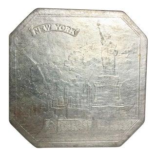 Pressed Embossed Foil Trivet New York City