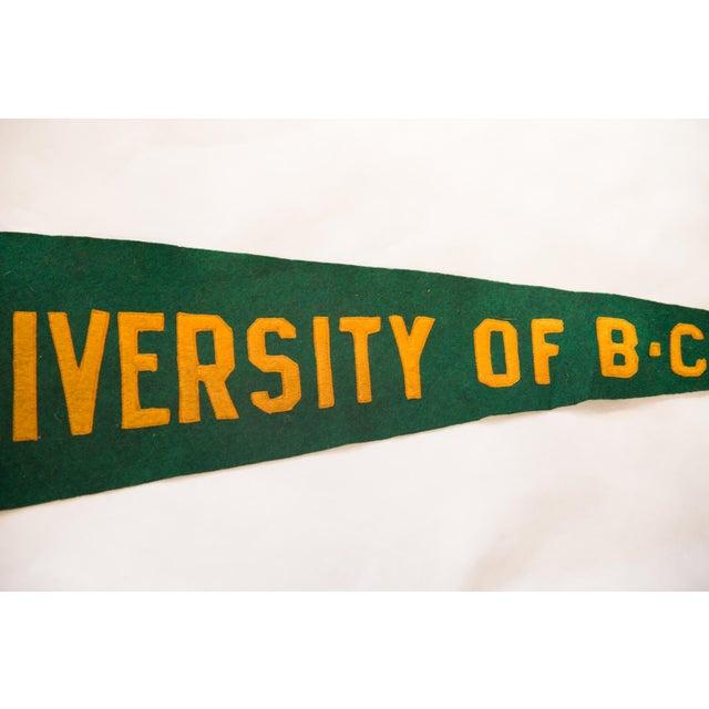 Mid-Century Modern Vintage University of B.C. Felt Flag Pennant For Sale - Image 3 of 5