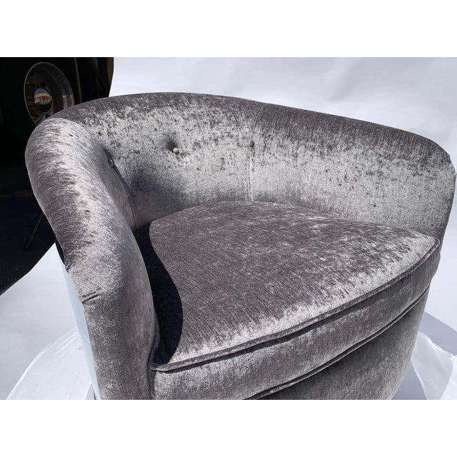 Restored Milo Baughman Chrome Back Barrel Chairs - a Pair For Sale In Philadelphia - Image 6 of 8