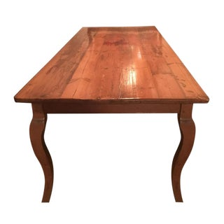 Antique Old English Wood Dining Room Table
