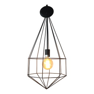 Onyx Geometric Cage Pendant Light