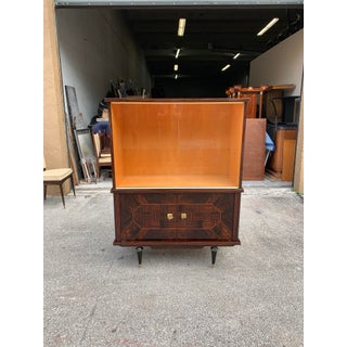 1940s Vintage French Art Deco Macassar Ebony Dry Bar Cabinet Preview