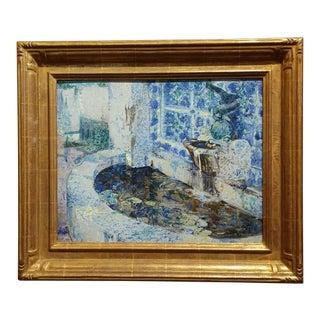 Douglass Parshall Tiled Fountain Oil Painting