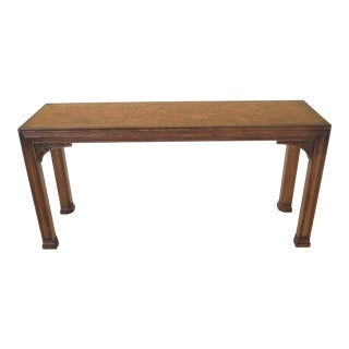 1990s Chippendale Henredon Oak & Walnut Sofa Table For Sale