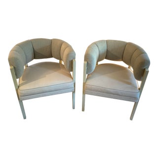 Pair of Larry Laslo Chairs for Directional For Sale