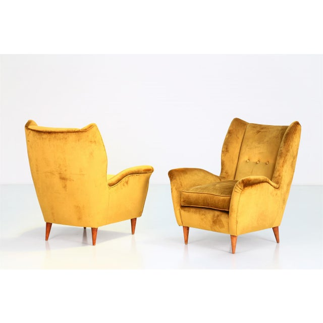 Gio Ponti Pair of Armchairs 1940 for Isa Bergamo For Sale - Image 6 of 6