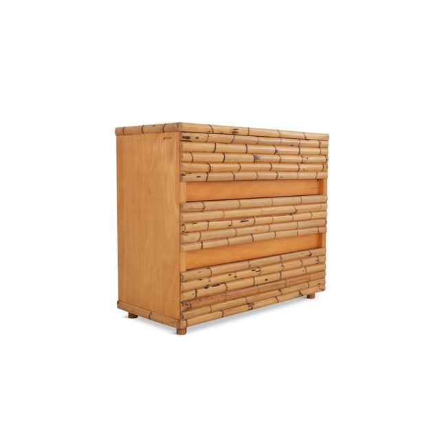 1970s Venturini Bamboo Chest of Drawers For Sale - Image 5 of 10