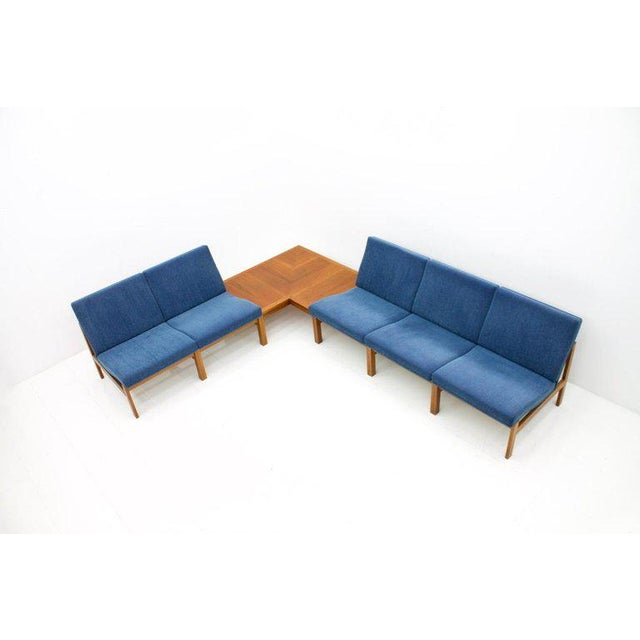 Wood Torben Lind Modular Seating Group With Corner Table France & Son 1965 For Sale - Image 7 of 12
