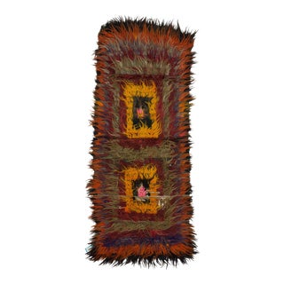 Vintage Turkish Shaggy Tulu Rug - 3′2″ × 8′2″